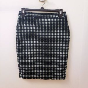 Limited Green Plaid Pencil Skirt
